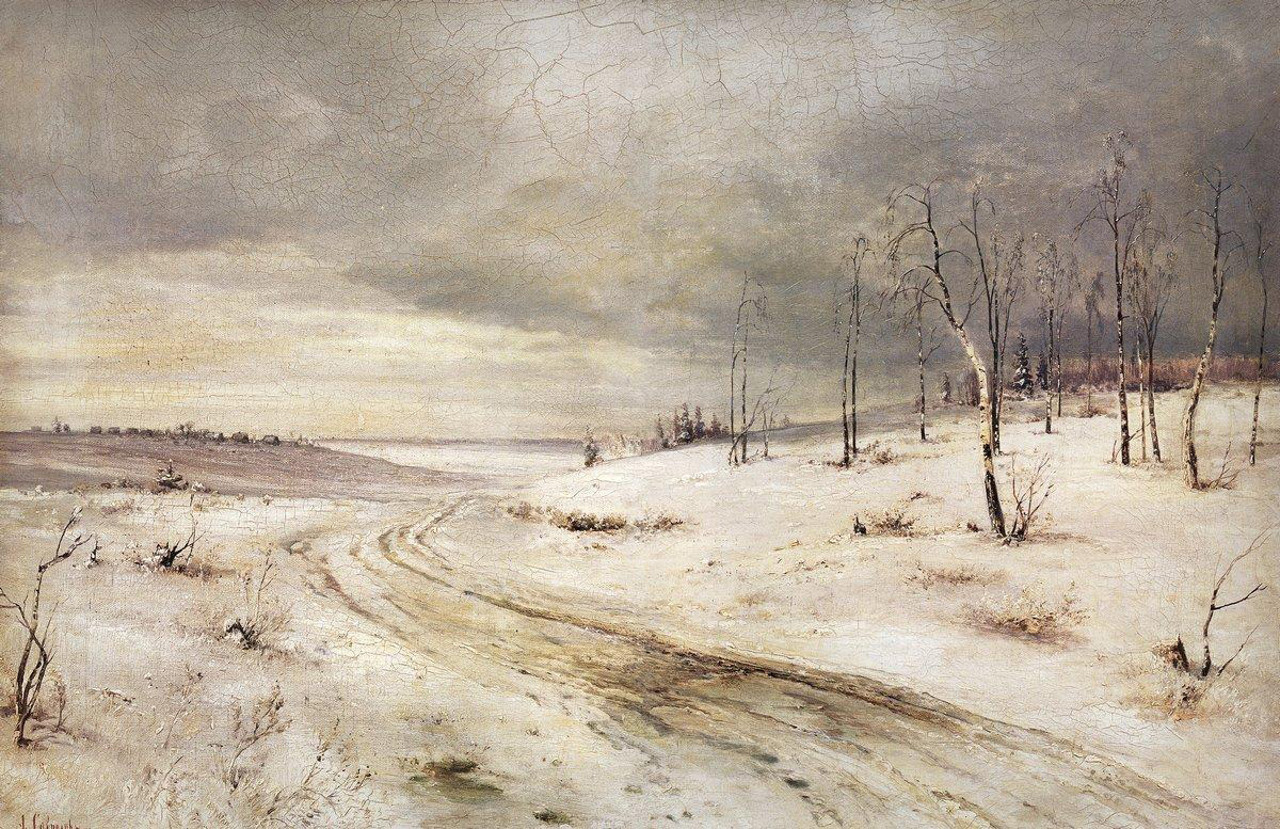 Picture of Plastov The First Snow - description and composition